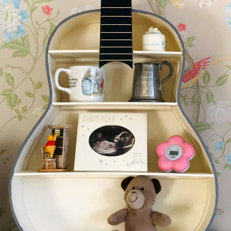 Guitar shelves from Shire Guitars
